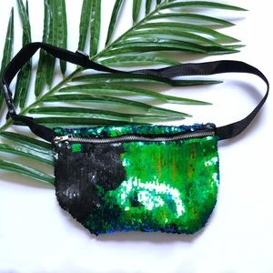 Two tone sequin waist bag